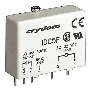 Input/Output Relay,50mA,Plug-In,White