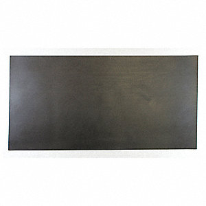 "Neoprene Rubber Sheet, 12""W x 2 ft.L x 1/4""Thick, 60A, Plain Backing Type, 300% Elongation, Black"