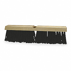 "Synthetic Floor Brush, Block Size 14"", Hardwood Block Material"