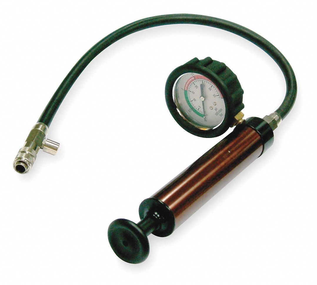 Cooling System Pressure Testing Pump, Brown Anodized Finish