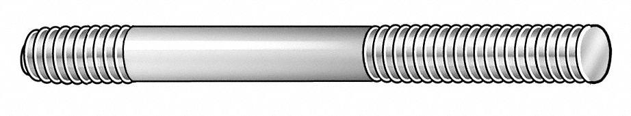 Dbl Thd Stud M8x1.25x140mm OAL PK2
