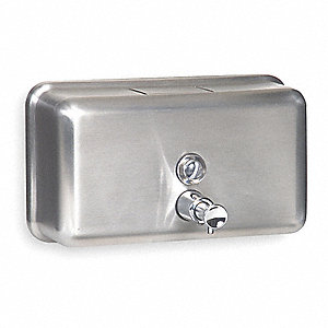 Soap Dispenser Silver,Wall Mount