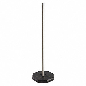 White Sign Post, PVC/Rubber, Length: 5 ft., 1 EA