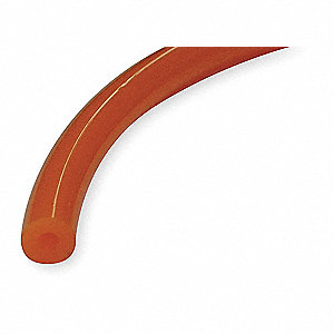 "Orange Round Belt, Smooth Texture, Hollow Core Type, Shore A 85 Hardness, 3/8"" Diameter"