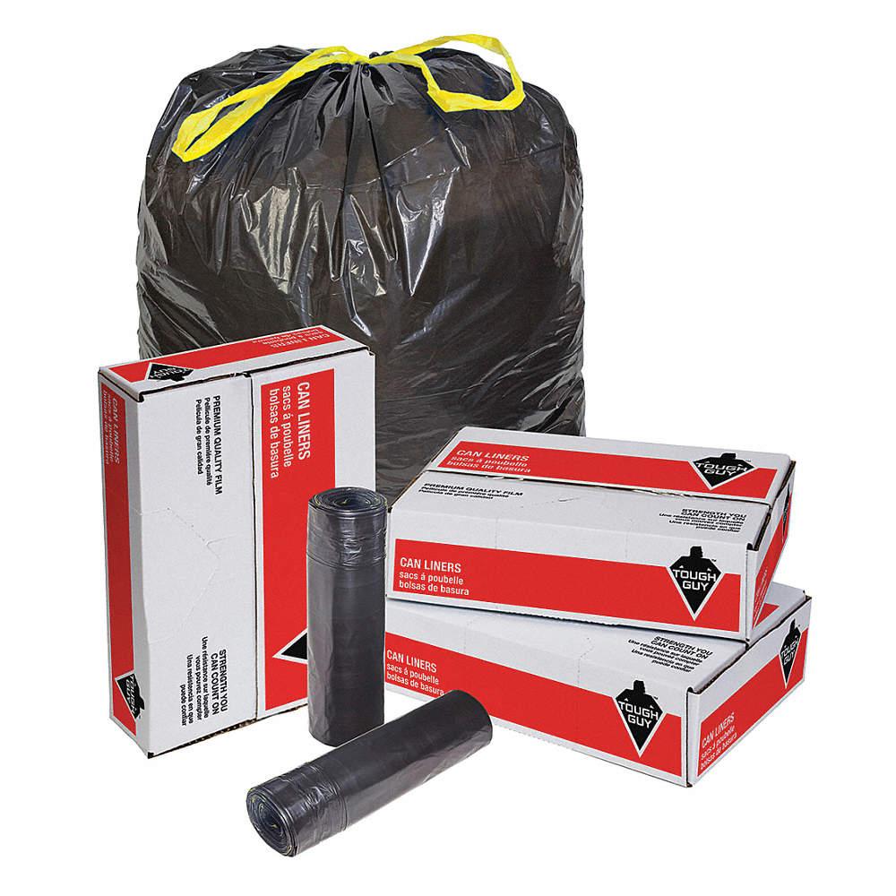 TOUGH GUY Recycled Trsh Bags 40 to 45gal Blk PK100