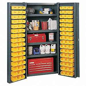 "Bin Cabinet, 72"" Overall Height, 38"" Overall Width, Total Number of Bins 96"