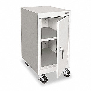 "Mobile Storage Cabinet, Dove Gray, 36"" Overall Height, Assembled"