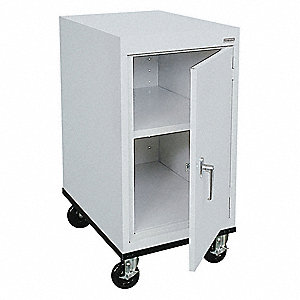 "Commercial Storage Cabinet, Dove Gray, 36"" H X 18"" W X 24"" D, Assembled"