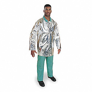 "35"" Thermonol Aluminized Jacket, Fits Chest Size 50"" to 52"", 2XL"