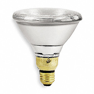 75 Watts Halogen Lamp, PAR38, Medium Screw (E26), 1500 Lumens, 2750K Bulb Color Temp.