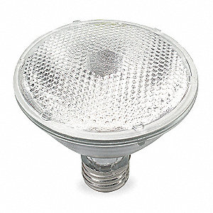 48 Watts Halogen Lamp, PAR30, Medium Screw (E26), 840 Lumens, 2775K Bulb Color Temp.
