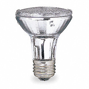38 Watts Halogen Lamp, PAR20, Medium Screw (E26), 530 Lumens, 2750K Bulb Color Temp.