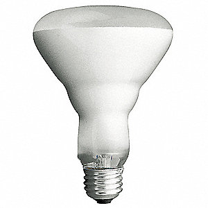 65 Watts Incandescent Lamp, BR40, Medium Screw (E26), 700 Lumens, 2600K Bulb Color Temp., 1 EA