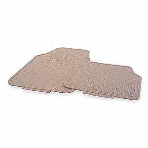 "27"" x 18.50"" Floor Mat Set of 4, Tan"