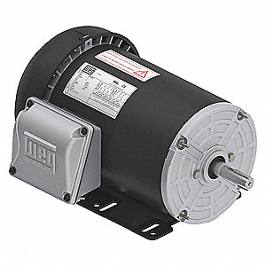 1 HP General Purpose Motor,3-Phase,3440 Nameplate RPM,Voltage 208-230/460,Frame 56