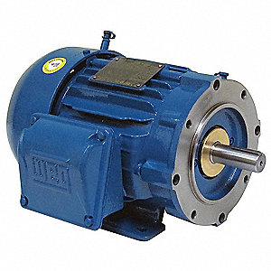 5 HP IEEE 841 Motor,3-Phase,1200 Nameplate RPM,Voltage 460,Frame 215TC