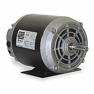 1/2 HP General Purpose Motor,3-Phase,1730 Nameplate RPM,Voltage 208-230/460,Frame 56