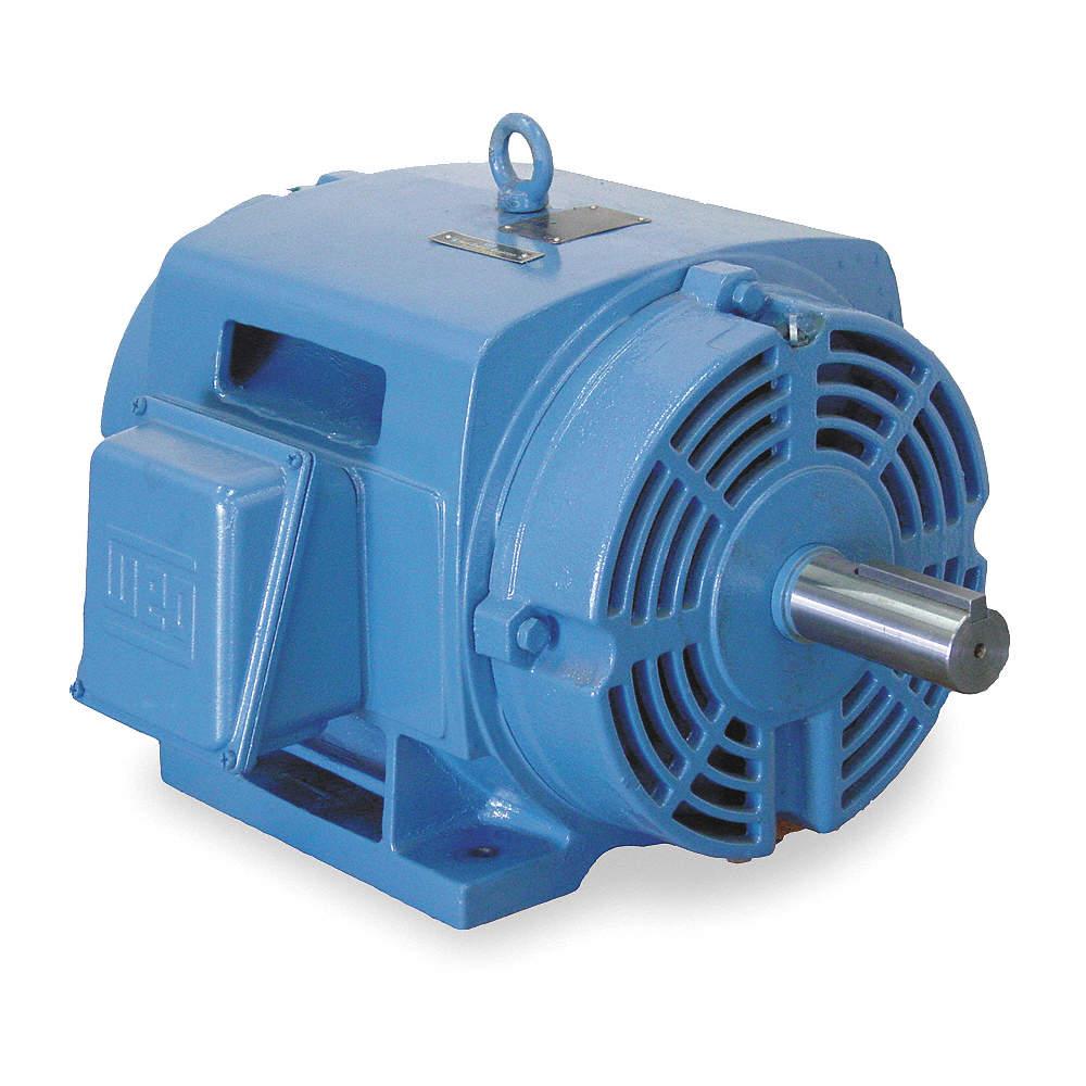 WEG 125 HP General Purpose Motor,3-Phase,3560 Nameplate RPM,Voltage ...