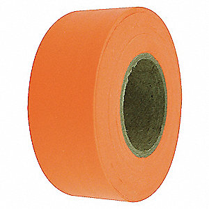 Flagging Tape,Fluorescent Orange,150 ft
