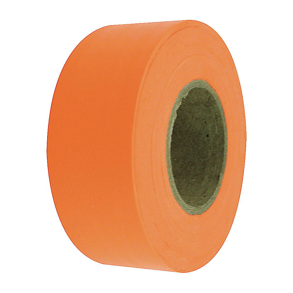 Fluorescent Blue Flagging Marking Tape 1 3//16 inch x 150 ft Non-Adhesive