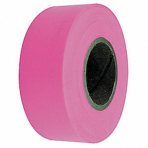 "Flagging Tape, Fluorescent Pink, 1-3/16"" x 150 ft."