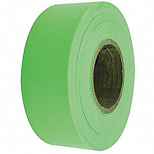 Flagging Tape,Fluorescent Lime,150 ft