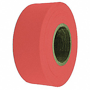 Flagging Tape,Red,300 ft x 1-3/16 In