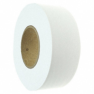 "Flagging Tape, White, 1-3/16"" x 300 ft., Blank"