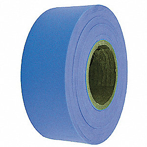 Flagging Tape,Blue,300 ft x 1-3/16 In