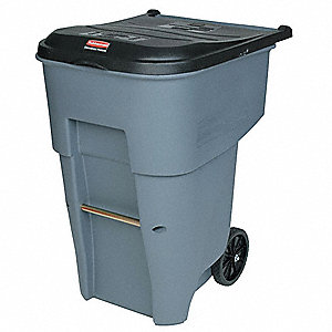 65 gal. Rectangular Gray Trash Can