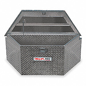 Aluminum Trailer Tongue Box, Black, Single, 6.1 cu. ft.