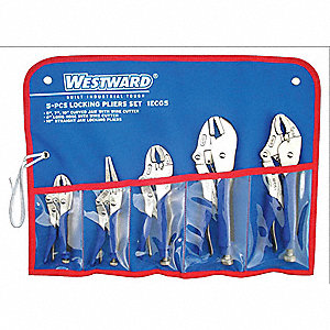 Locking Pliers Set, Handle Type: Ergonomic, Number of Pieces: 5