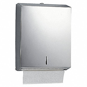 Tough Guy Universal C-Fold, Multifold Manual Paper Towel Dispenser, Satin