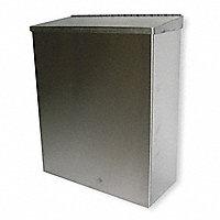 GRAINGER APPROVED Plastic Steel Cigarette Receptacle Gray 4450 3 90 Gray