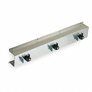 304 Stainless Steel Mop and Broom Rack, 1 EA
