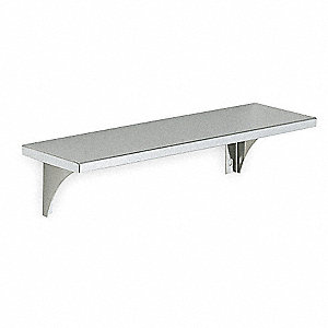 "48""L x 4-1/8""H x 5-13/64""D Satin Utility Shelf"