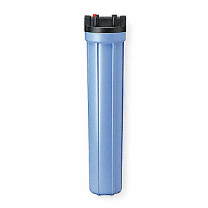 "Single Cartridge Filter Housing, Polypropylene, 3/4"" NPT"