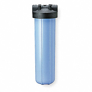 "Single Cartridge Filter Housing, Polypropylene, 1-1/2"" NPT"