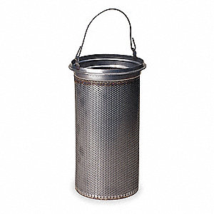 304 Stainless Steel Strainer Basket, Mesh Size 100, For Use With: #12 Bag Housing