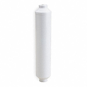 "0.50 gpm Point of Use Inline Water Filter, 3/8"" Push Fitting Connection Type, 6 Micron Rating"