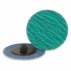 "2"" Coated Quick Change Disc, TR Roll-On/Off Type 3, 120, Medium, Zirconia Alumina, 25 PK"
