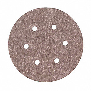 "6"" Hook-and-Loop Sanding Disc, Aluminum Oxide, 100 Grit, Fine, Coated, A275, PK100"