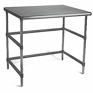 "Adjustable Worktable, Stainless Steel Frame Material, 60"" Width, 30"" Depth"
