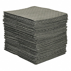 "19"" x 15"" Medium Absorbent Pad for Universal / Maintenance, Gray&#x3b; PK100"