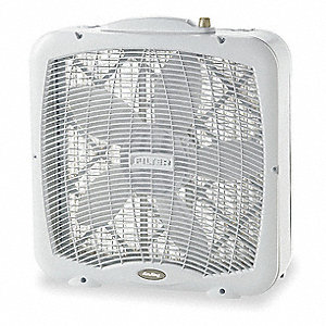 "Non-Oscillating, 20"" Box Fan, 120V Voltage"