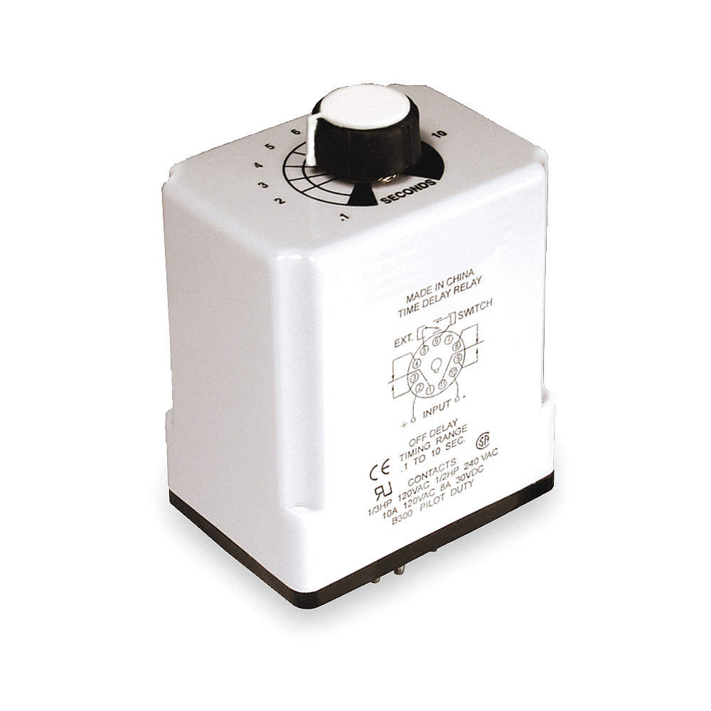 Dayton Single Function Timing Relay 120vac Dc 10a 240v 11 Pins On Off Delay Zoom Out Reset Put Photo At Full Then Double Click
