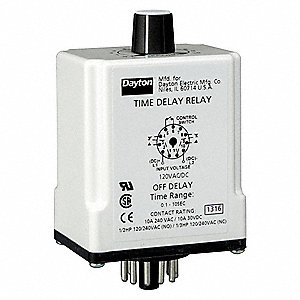 dayton single function timing relay 120vac dc 10a 240v. Black Bedroom Furniture Sets. Home Design Ideas