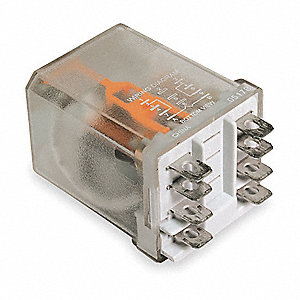 Plug In Relay,8 Pins,Square,12VAC