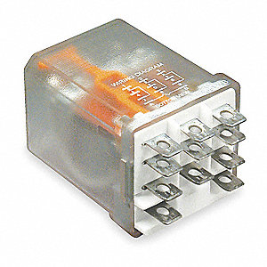 Plug In Relay, 11 Pins, Square Base Type, 16A @ 300VAC/28VDC Contact Rating, 24VAC Coil Volts
