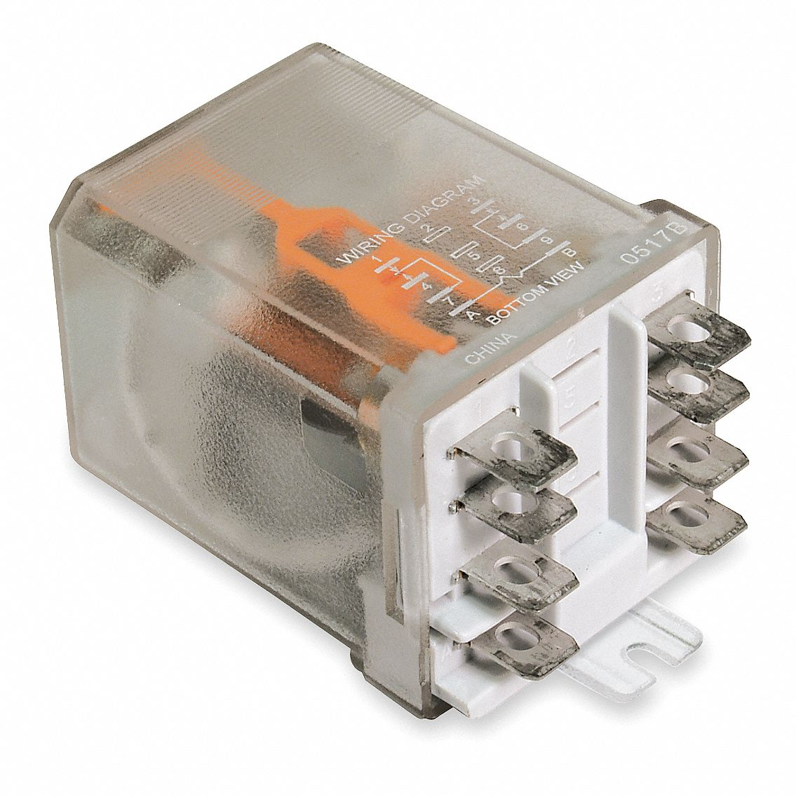 DAYTON 240VAC 8Pin Side Flange Enclosed Power Relay Electrical